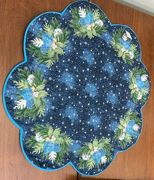 Holly & Snowflake Table Topper