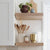White Oak Floating Shelves Open Kitchen Shelves