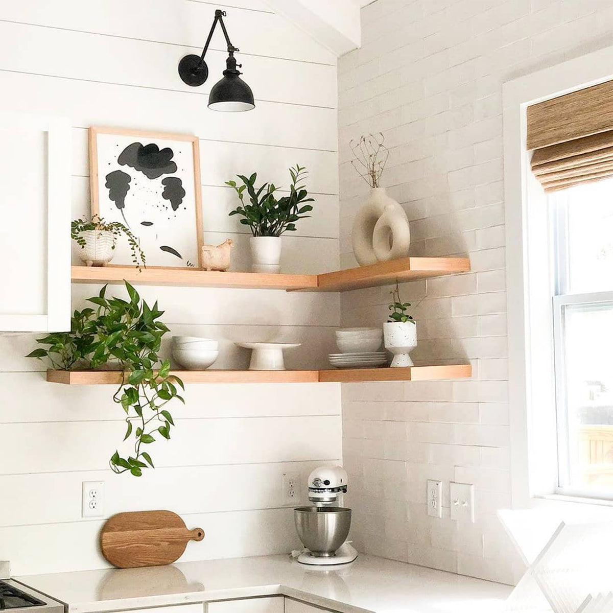 Alder Floating Shelf with Hidden Bracket - Ultra Shelf