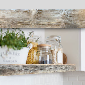 Reclaimed Barnwood Floating Shelf with Hidden Bracket - Ultra Shelf