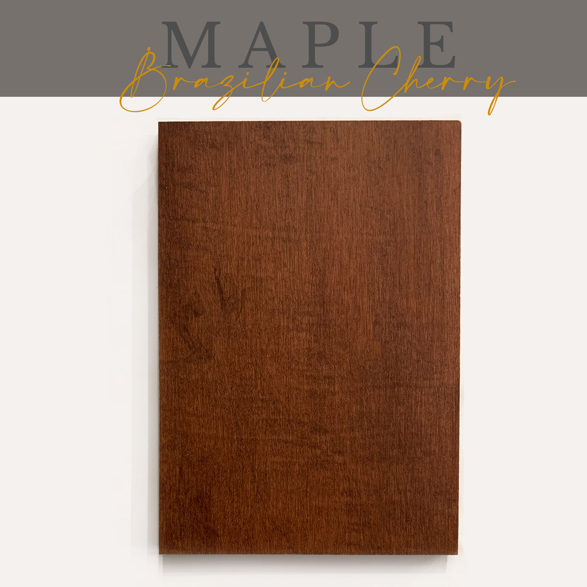 Maple with Brazilian Cherry Stain Sample - Ultra Shelf