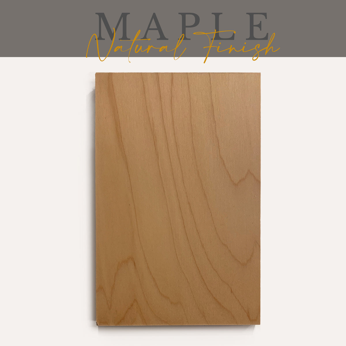 Maple with Natural Finish Sample - Ultra Shelf