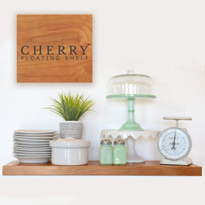 Cherry Floating Shelf with Hidden Bracket - Ultra Shelf