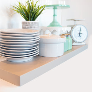 Gray Floating Shelves - Ultra Shelf