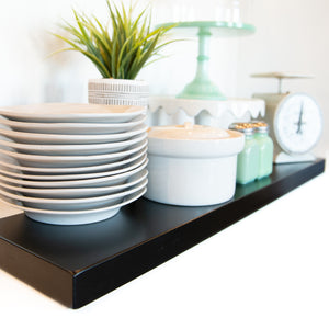 Black Floating Shelves - Ultra Shelf