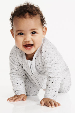 Bonds Poodlette Zip Wondersuit - New Grey Marle & Absolute Steel Spot