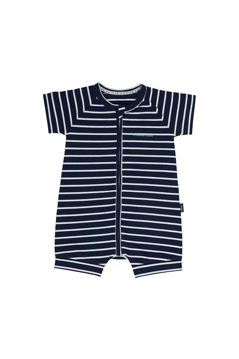 Bonds Zip Romper - Black Sea & White