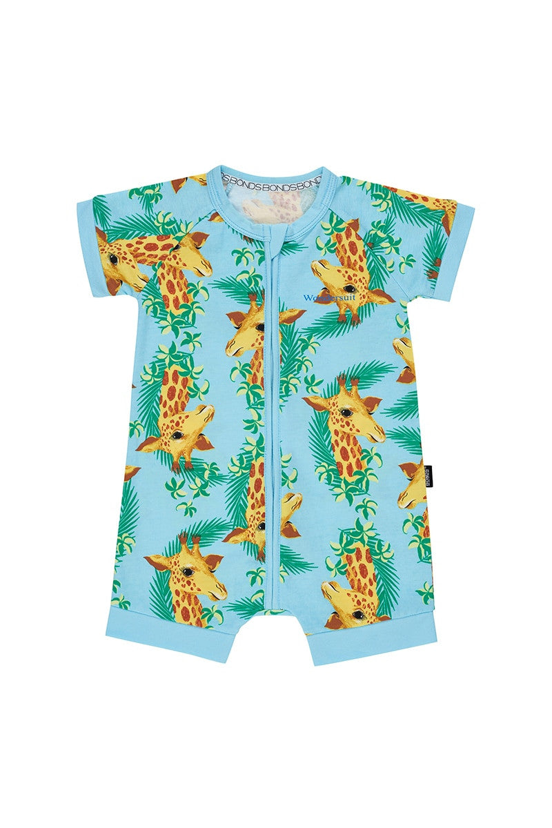 Bonds Zip Romper - George Giraffe Candy Blue