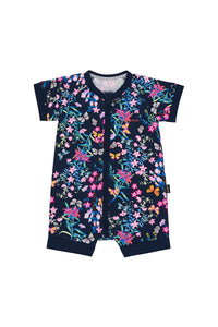 Bonds Zip Romper - Blossoming Butterflies Navy