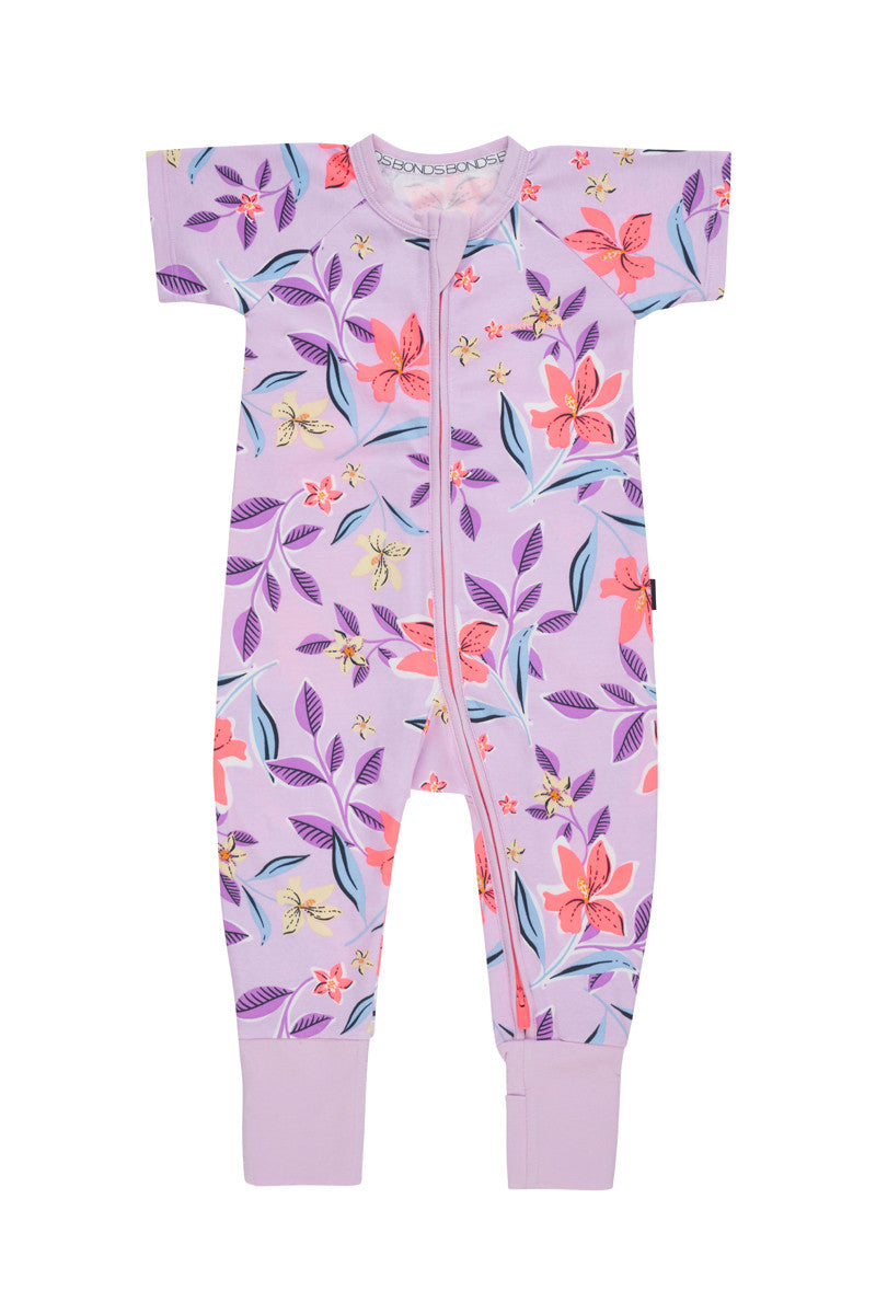 Bonds Short Sleeve Wondersuit - Floral Conga