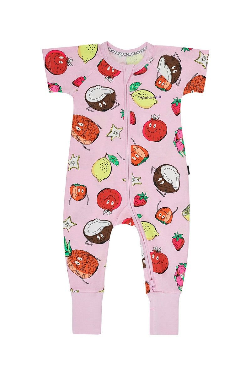 Bonds Short Sleeve Wondersuit - Fruit Frenzy