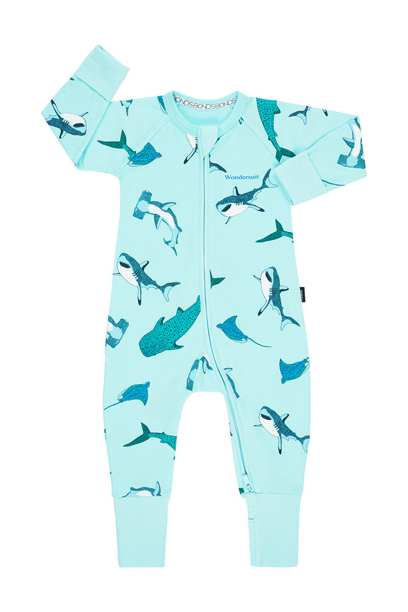 Bonds Zip Wondersuit - Shark Bay Unreal Aqua