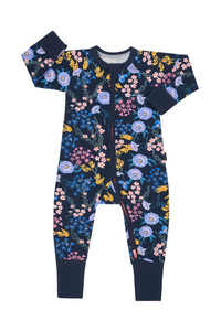 Bonds Zip Wondersuit - Wildflowers Deep Atlantic