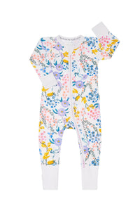 Bonds Zip Wondersuit - Wildflowers White