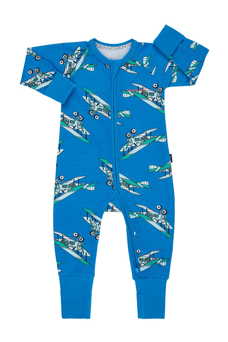 Bonds Zip Wondersuit - Billys Air Tractor Blueberry Pop