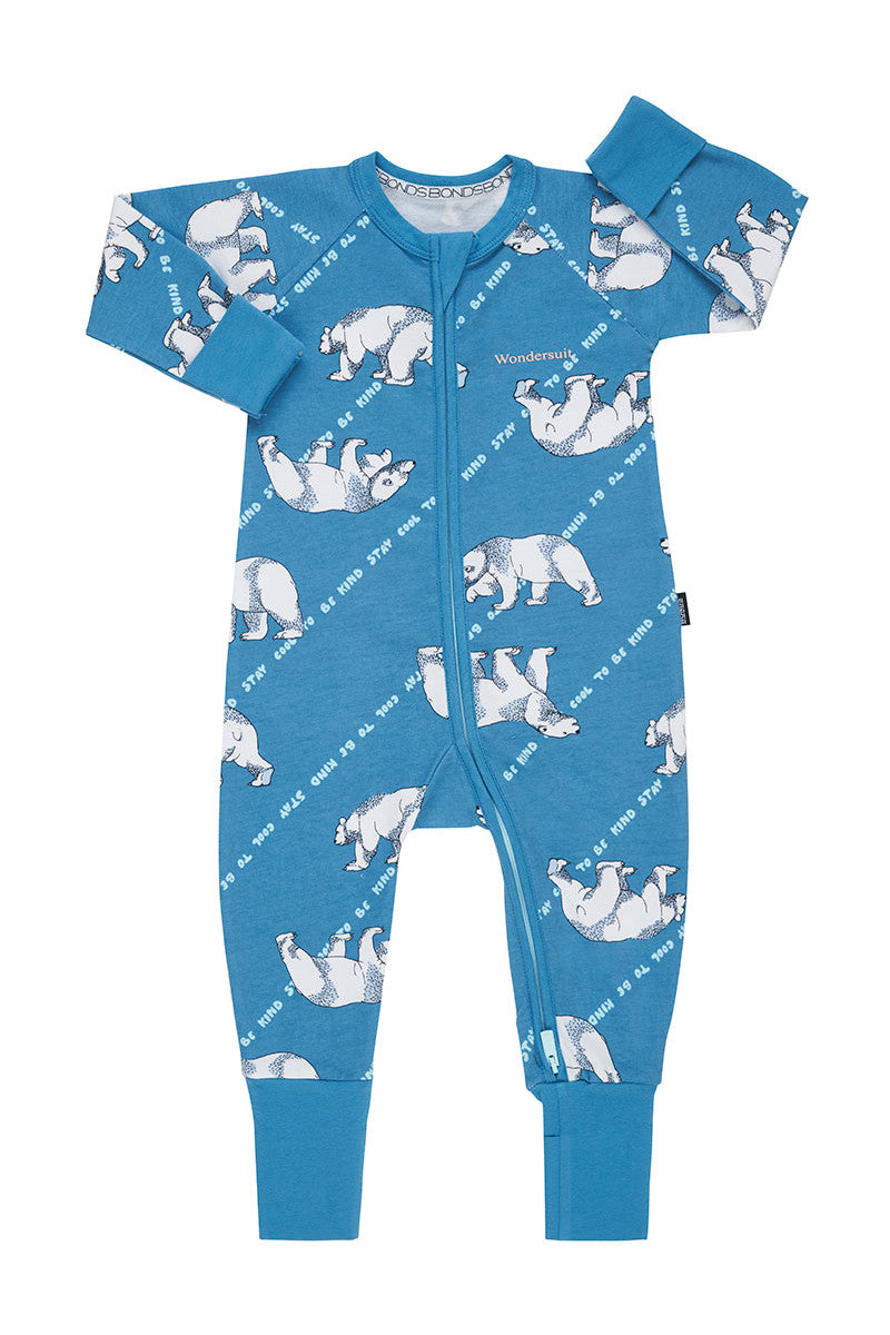 Bonds Zip Wondersuit - Stay Cool Polar Bear