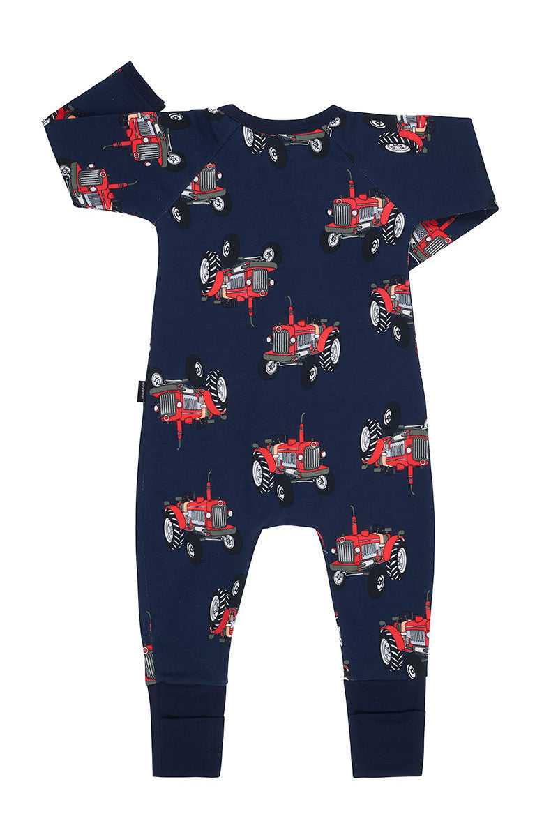 Bonds Zip Wondersuit - Tractor Jack Navy