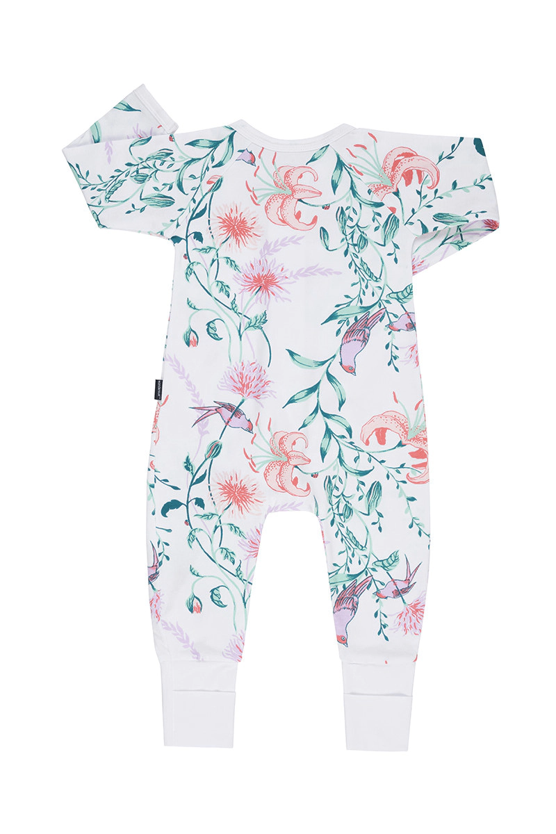 Bonds Zip Wondersuit - Garden Bliss White