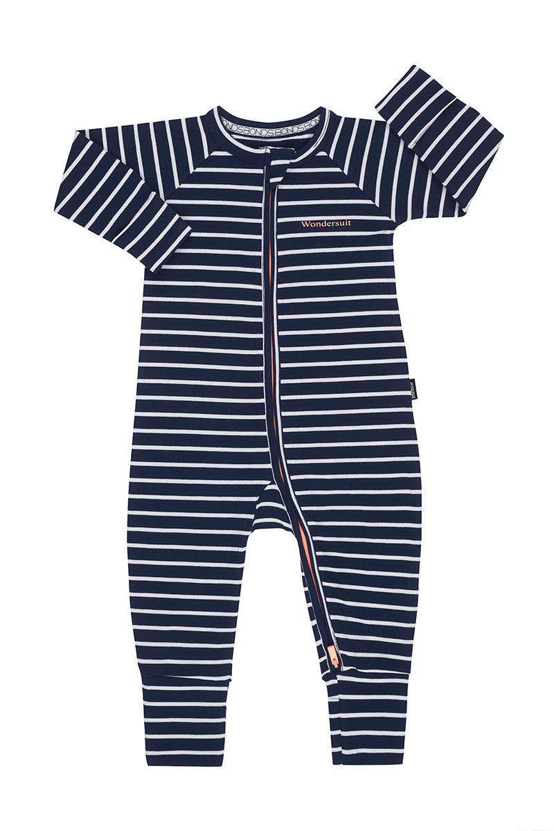 Bonds Zip Wondersuit - Black Sea / White