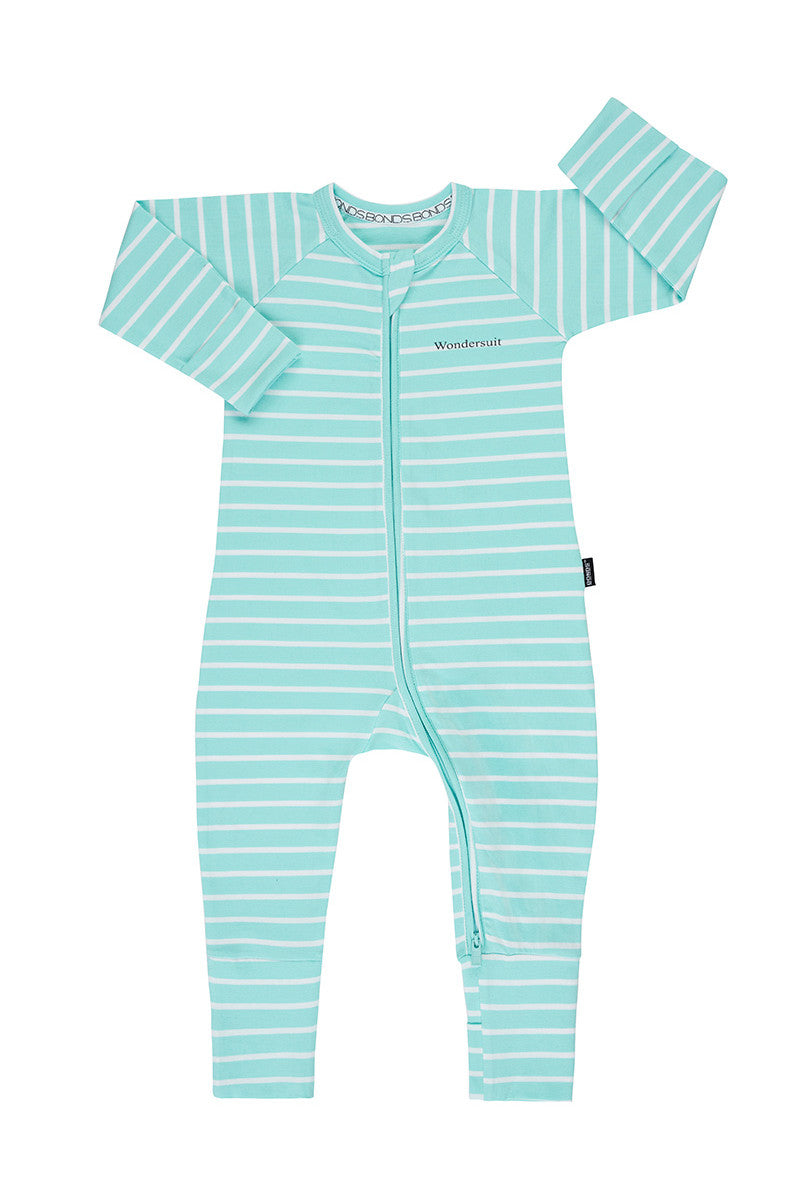 Bonds Zip Wondersuit - Jasmint & White