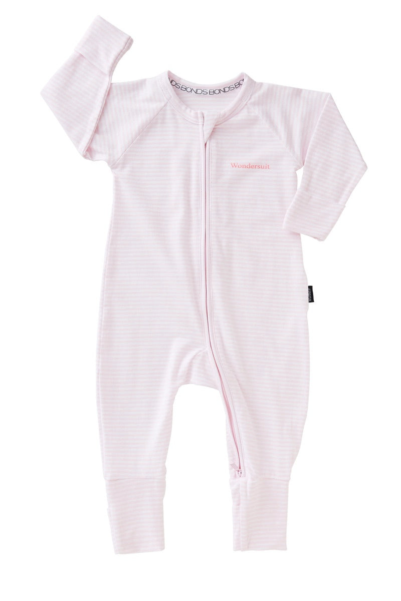 Bonds Zip Wondersuit - Ballet Pink / White