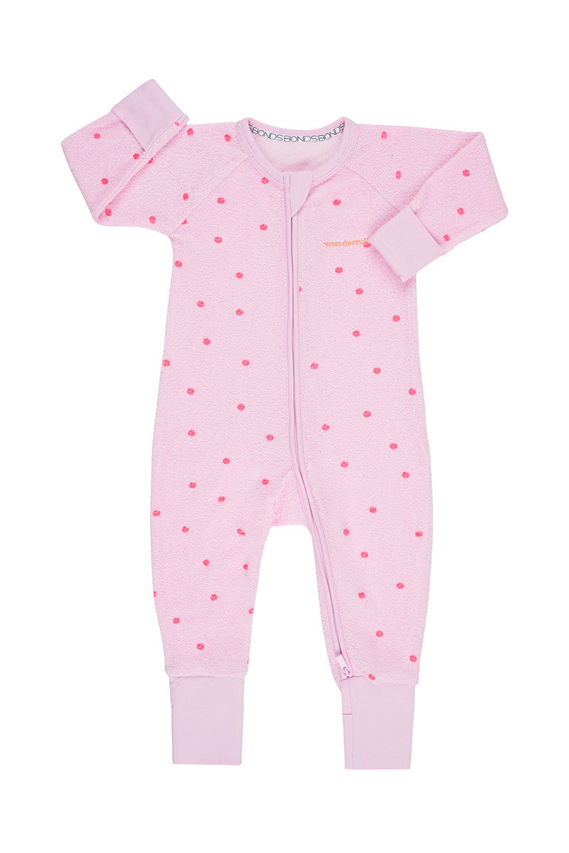 Bonds Poodlette Zip Wondersuit - Daydream Blush