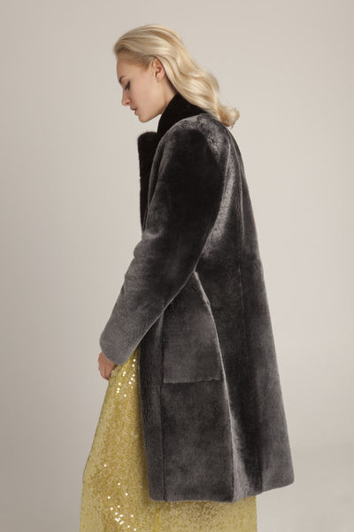 shearling mink coat