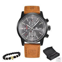 Load image into Gallery viewer, Bracelet And Leather Watch Collector Pack Black Gray