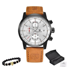 Load image into Gallery viewer, Bracelet And Leather Watch Collector Pack Black And White