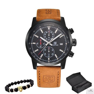 Bracelet And Leather Watch Collector Pack Black