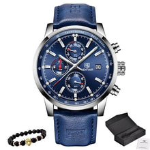 Load image into Gallery viewer, Bracelet And Leather Watch Collector Pack Dark Blue