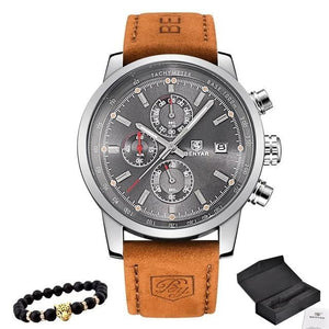 Bracelet And Leather Watch Collector Pack Silver Gray