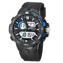 Load image into Gallery viewer, Dual-Clock Daytime Military Sports Chronograph Blue