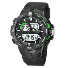 Load image into Gallery viewer, Dual-Clock Daytime Military Sports Chronograph Green