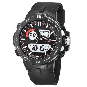 Dual-Clock Daytime Military Sports Chronograph Silver