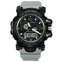 Load image into Gallery viewer, Dual-Clock Waterproof Military Chronograph Gray