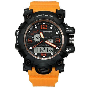 Dual-Clock Waterproof Military Chronograph Orange