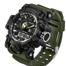 Load image into Gallery viewer, Dual-Clock Waterproof Military Chronograph