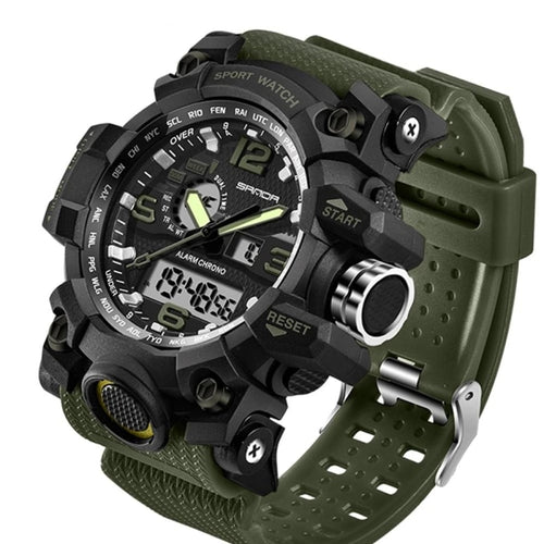 Dual-Clock Waterproof Military Chronograph