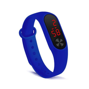 Electronic Band Men Women Watch Casual Sport Dark Blue