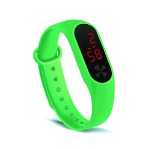 Electronic Band Men Women Watch Casual Sport Green