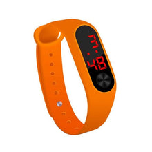 Load image into Gallery viewer, Electronic Band Men Women Watch Casual Sport Orange