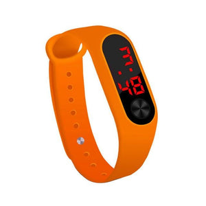 Electronic Band Men Women Watch Casual Sport Orange