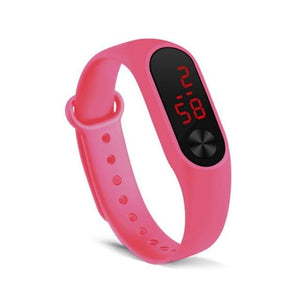 Electronic Band Men Women Watch Casual Sport Pink