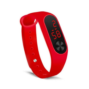 Electronic Band Men Women Watch Casual Sport Red
