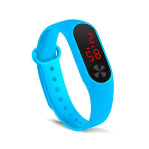 Electronic Band Men Women Watch Casual Sport Sky Blue