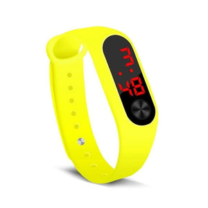 Electronic Band Men Women Watch Casual Sport Yellow