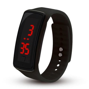 Electronic Sports Watch For Men And Women Black