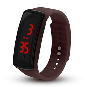 Electronic Sports Watch For Men And Women Brown