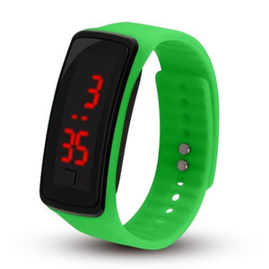 Electronic Sports Watch For Men And Women Light Green